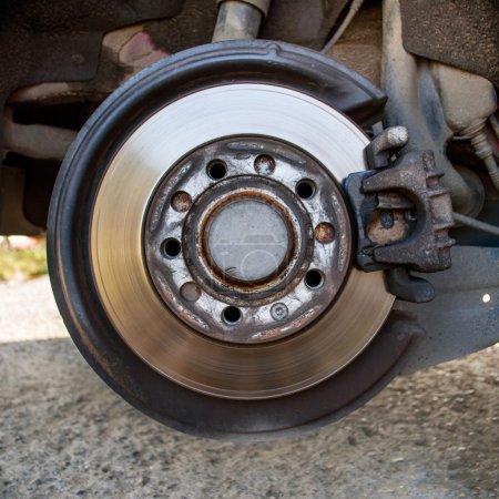 Disc brake detailed closeup