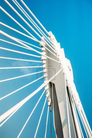 Steel details of a modern bridge