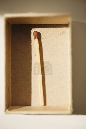 Open matchbox and last match