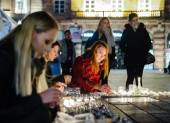 Tributes being laid out after the Paris attacks Paris attacks af