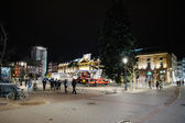 Police officers on near Central Christmas tree after attacks