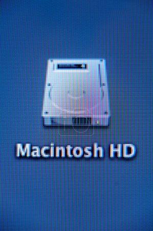 Macintosh HD hard drive icon seen on an iMac