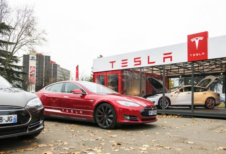 Tesla Motors dealership exterior facade