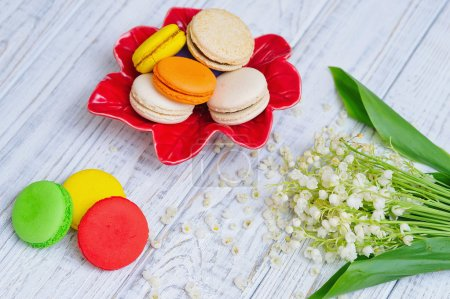 Still life with macaroons