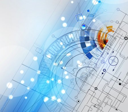 Illustration for Abstract vector background. Futuristic technology style. Elegant background for business tech presentations. - Royalty Free Image
