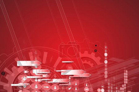 Photo for New future technology concept abstract background for business solution - Royalty Free Image