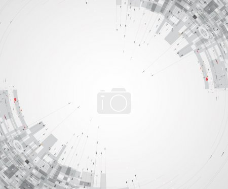 Illustration for Abstract tech background. Futuristic interface. Vector illustration with many geometric shape. - Royalty Free Image