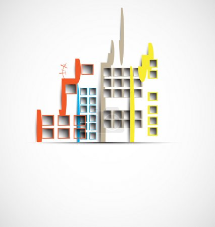 Building and real estate city illustration. Abstract background