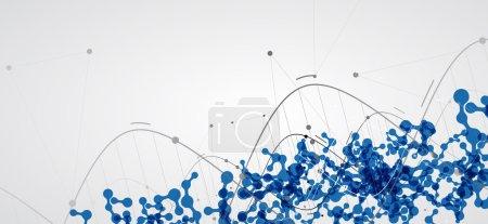 Photo pour DNA Icône abstraite et collection d'éléments. Interface technologique futuriste. Format vectoriel - image libre de droit