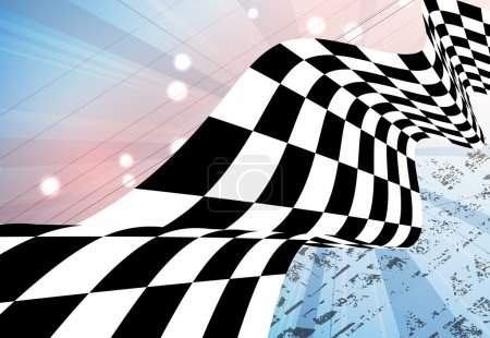 Racing square background, vector illustration abstraction in rac
