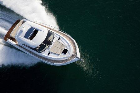 Closeup of a yacht