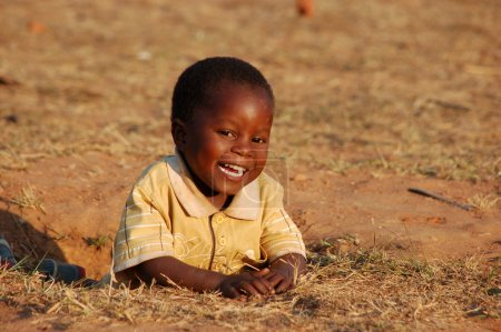 Photo pour August 2014-Tanzania-Africa-The smile of hope on the faces of African children of the Village of Pomerini affected by the AIDS virus. A smile for a possible future. - image libre de droit