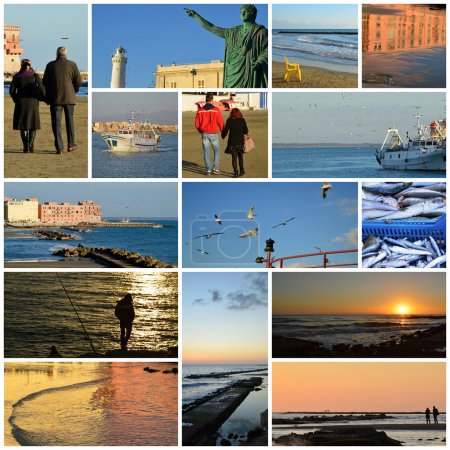 January 6, 2015, the town of Anzio-Rome-Lazio-Italy - A day at t