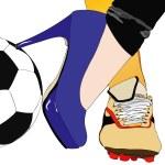 Between football and fashion - Symbolic illustrati...