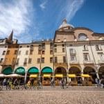 MANTUA, ITALY - MAY 9, 2021: Piazza delle Erbe, on...
