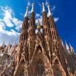 The famous Catholic basilica of the Sagrada Famili...