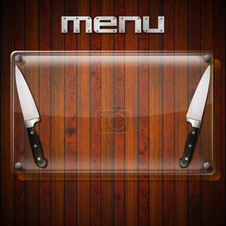 Rustic Menu Background - Glass Plate