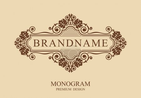 Monogram design elements, Calligraphic graceful template, Typographic sign, Elegant line art logo, Business sign for Royalty, Boutique, Cafe, Hotel, Heraldic, Jewelry, Wine, Vector illustration Eps 10