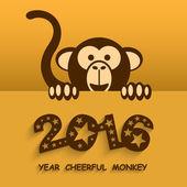 Funny Year of Monkey Happy new year 2016 Colorful design Vector illustration Eps 10