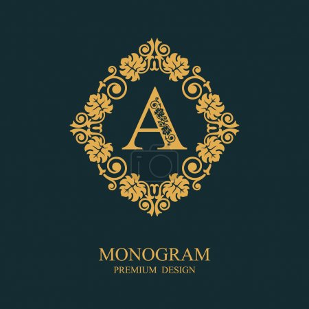 Monogram Letter emblem A