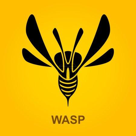 Wasp Predator Insect logotype design