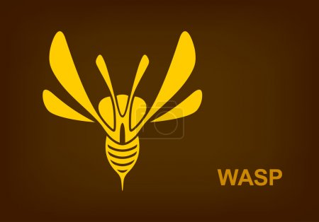 Wasp Predator Insect logotype design