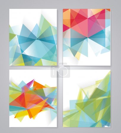 Illustration for Abstract geometric background for use in design. Vector - Royalty Free Image