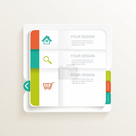 Modern Design template. Can be used for infographics, numbered b