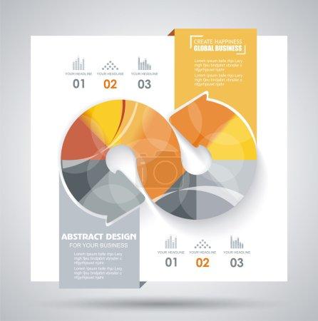 Illustration pour Modèle de brochure vectorielle avec des éléments de flèches . - image libre de droit