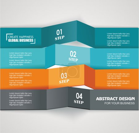 Design color number banners template for info graphic or website