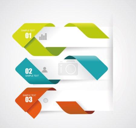 Illustration for Modern Design Layout - vector paper progress steps - Royalty Free Image