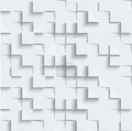 Vector Abstract geometric shape from gray cubes. W...