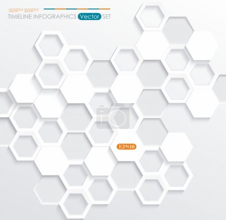 Illustration for Infographic design with cells, meshes on the grey background. Eps 10 vector file. - Royalty Free Image