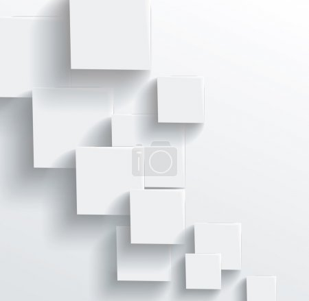Photo for Vector Abstract geometric shape from gray cubes. White squares - Royalty Free Image