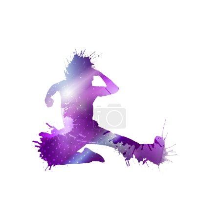 Colorful dancer silhouette
