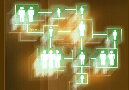 Photo pour Image de fond numérique présentant des concepts d'entreprise modernes - image libre de droit