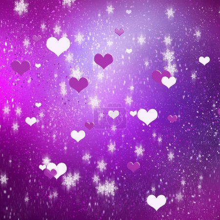 hearts on color background