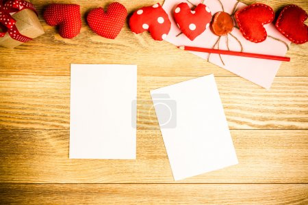 Blank paper sheets for writing message