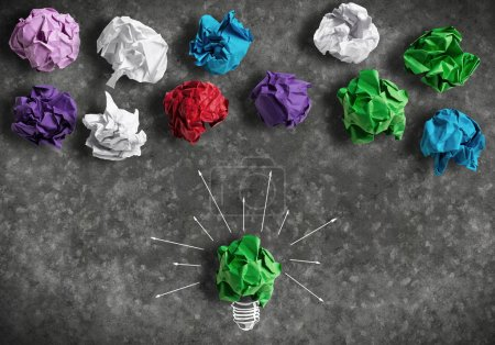 paper light bulb as good idea
