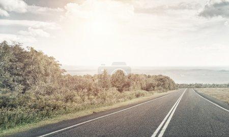 asphalt road to horizon