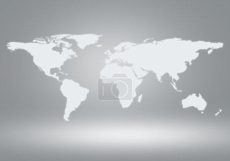 Photo pour Image conceptuelle avec carte du monde. Mondialisation et interaction - image libre de droit