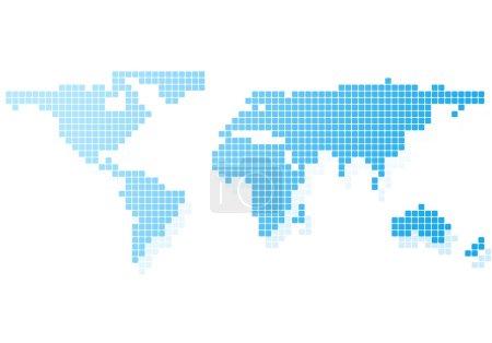 Photo pour Image conceptuelle avec carte du monde sur fond blanc - image libre de droit