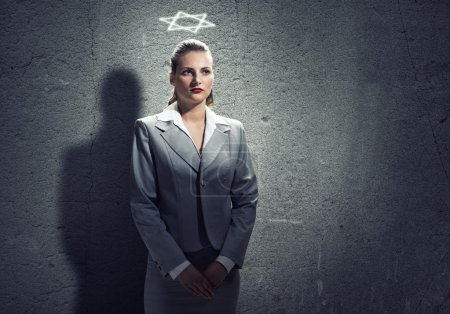 businesswoman with crown on head