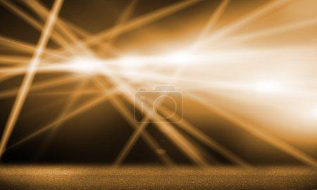 Photo pour Image de fond avec scène floue lumières et poutres - image libre de droit