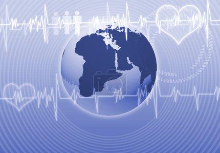 Heart care Digital background