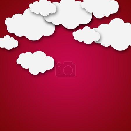 Weather cartoon clouds