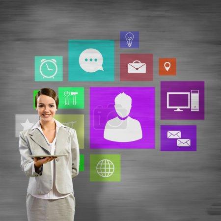 Interface application icons presentation