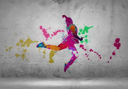 color silhouette of dancer