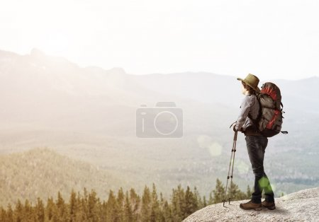 Young man hiker