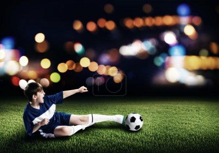 boy football player